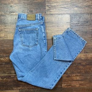 Calvin Klein high rise button fly mom jeans 90s